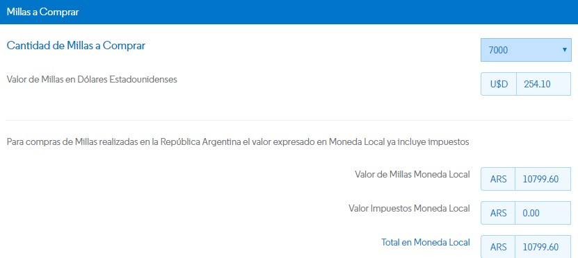Aerolineas Argentinas Promo Millas Mas Pesos Marzo 2019 - Compra 7000