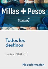 Aerolineas Argentinas Promo Millas Mas Pesos Marzo 2019 - Promo 2