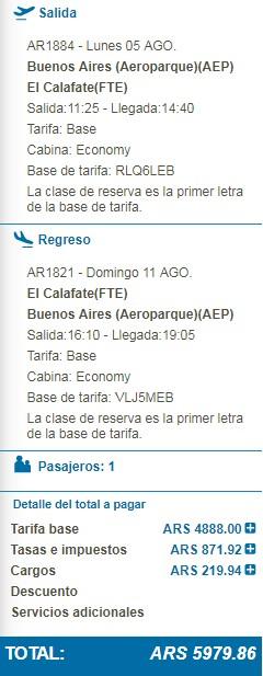 Aerolineas Argentinas Promo Millas Mas Pesos Marzo 2019 - Total 1