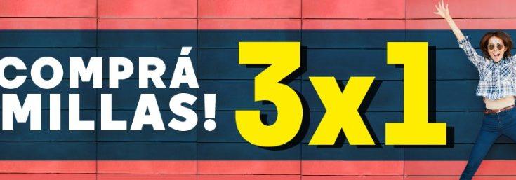 Aerolineas Argentinas Promocion 3x1 Venta Millas a