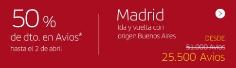 Iberia Avios Millas Europa Madrid 1