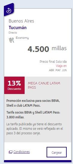 Millas Latam Mega Canje Argentina 5