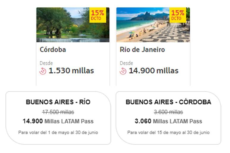Millas Latam Pass Destino Mes Cordoba Rio de Janeiro Shell 4