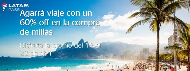 Promocion 60 off Latam Abril 2019 Millas Shell 1