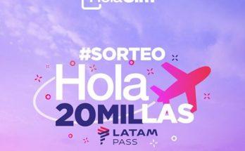 LATAM Pass Programa de Viajero Frecuentes Millas HolaSim Sorteo 1