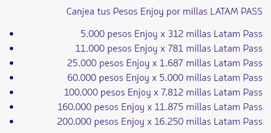 Enjoy Latam Pass Chile Millas Gratis 2