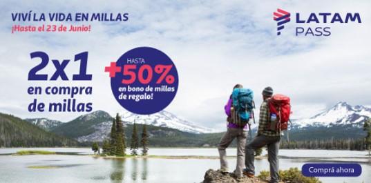 Latam Pass Millas Gratis 2x1 mas Bono Promocion Junio 2019 1