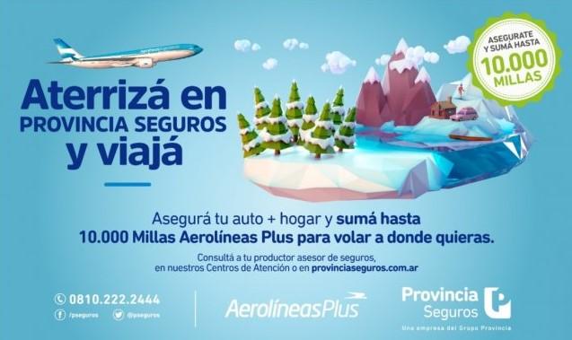 Provincia Seguros Aerolineas Argentinas Millas Gratis Julio 2