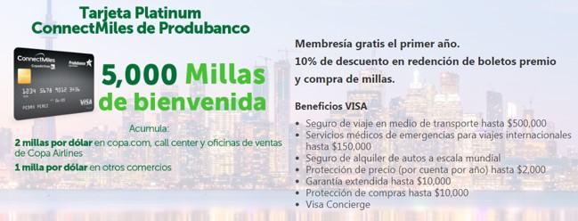Produbanco Copa Airlines ConnectMiles Millas Tarjetas de Credito Visa 2