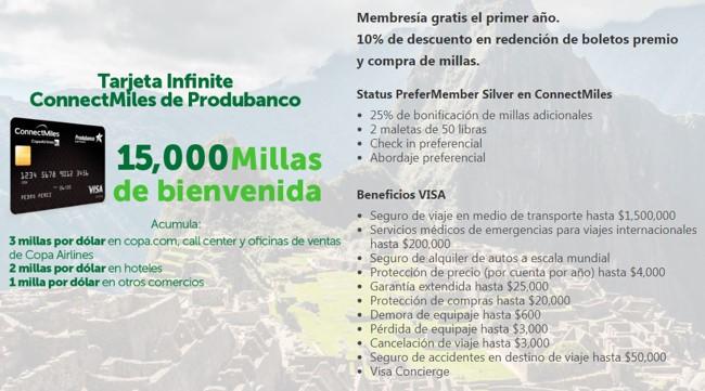 Produbanco Copa Airlines ConnectMiles Millas Tarjetas de Credito Visa 3